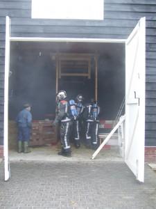 Brand in een schuur
